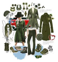 """""""Tone on Tone, Olive Overdose II; the Joy, the Choices, The Descisions - of being a girl!"""" by caroline-buster-brown on Polyvore featuring Paige Denim, taos Footwear, Bar III, Gianvito Rossi, NIKE, Laundromat, Prada, Protagonist, Ann Taylor and Michele"""