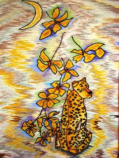 """""""The Moon Cheetah"""" - The perfect tapestry for a child's room."""