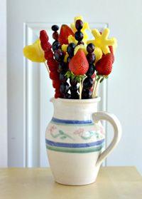 Homemade edible bouquet