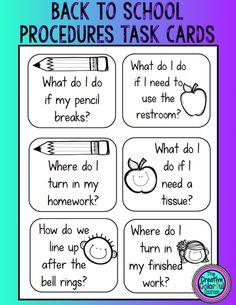 Back to School Procedure Review Activity!