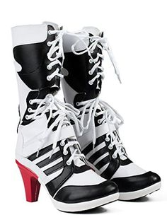 Dreamy House Womens Cosplay Shoes Suicide Squad Harley Quinn Boots (Female  US