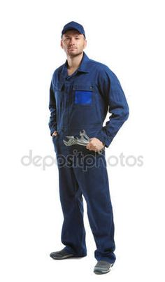 Download - Young mechanic in uniform — Stock Image #125470540