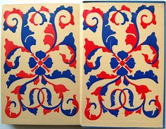 Endpapers in the book Inside the Moscow Art Theatre by Oliver M. Sayler. New York: Bretano, 1925.