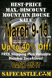 Big Mountain House freeze-dried food sale -- free shipping, club member incentives. 30-year shelf life, world's premier emergency storage food. Go to: http://www.safecastle.com/30-year-cans.aspx