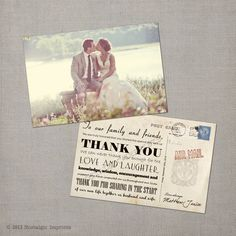 Nostalgic Imprints Inc. - Janice - 4x6 Vintage Wedding Thank You Card, $1.52 (http://www.nostalgicimprints.com/thank-you-cards/thank-you-cards/janice-4x6-vintage-wedding-thank-you-card/)