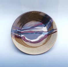 Stoneware Pottery Serving Platter Large 13 by MostlyStoneware, $75.00