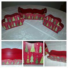 Budinera y dos servilleteros con motivos navideños