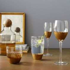 Honeycomb Glassware - Contemporary - Everyday Glassware - West Elm