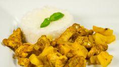 Kacper Dobaj: Kurczak curry z ananasem i imbirem Masterchef Junior, Master Chef, Curry, Chicken, Meat, Cooking, Ethnic Recipes, Food, Pineapple