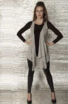 Sleeveless Draped Knit Cardigan by Miilla | Wardrobe Inspiration ...