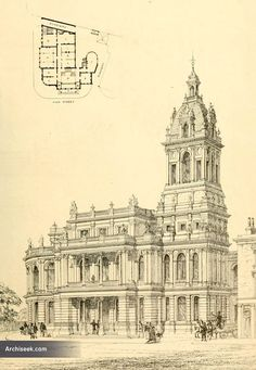 1869 – Public Office & Vestry Hall, Stratford, London  Architect: John Giles & Lewis Angell