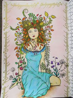 Art Therapy: Enchanted Forest - pastelky progresso aquarell + zlata gelovka
