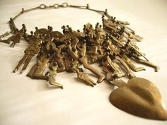 Mexican Modernist Milagros Necklace by Pal Kepenyes