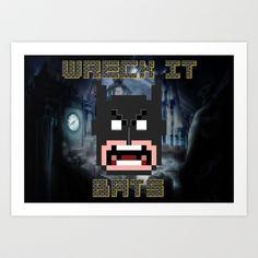 Wreck It Bats Art Print by Joshua Epling - $15.08