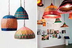 | Lámparas de mimbre y bambú para decorar tu hogar