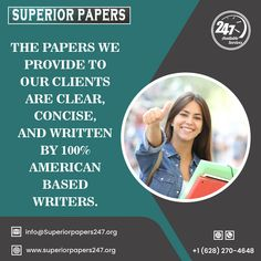 Call Or WhatsApp: +1 628 270 4648 ; superiorpapers247@gmail.com Best Essay Writing Service, Paper Writing Service, Academic Writing Services, Thesis Writing, Sample Paper, Business And Economics, Writing Assignments, Custom Writing, Term Paper