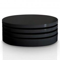 Table basse Fany Laqué Noir