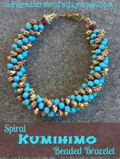 Adventures of a DIY Mom - Kumihimo Beaded Bracelets from Prima Bead