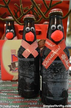 Reindeer Rootbeer DIY Easy Fun DIY Craft or Gift that the Kids can even make for the Holidays!