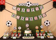 Ensemble de football Birthday Party Package personnalisé Collection complète - imprimable bricolage - PS834CA1x