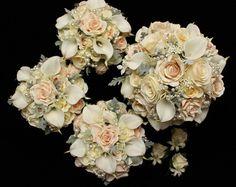 Tara 9pc set Silk Wedding Flower Package by FlowersForEverAfter, $522.00
