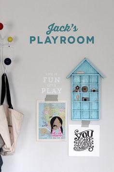 Jack's Playroom   Silhouette Phrase   Amy Tangerine