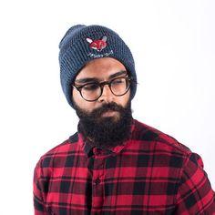 Blue JP Fox Soup Beanie// Japanese Range// Autumn Winter Wear Winter Wear, Winter Hats, Fall Winter, Autumn, Fox, Beanie, Japanese, Trending Outfits, How To Wear