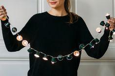 Waldgrüne weihnachtliche Lichterkette