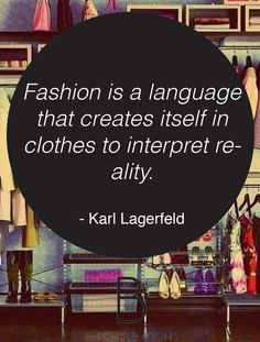 Karl Lagerfeld #quote