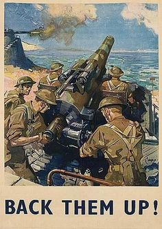 Terence Cuneo 1942 British propaganda poster world war two gun Help Britain Finish the Job Fosse Commune, Painting Prints, Canvas Prints, Ww2 Propaganda Posters, Peace Poster, Military Art, Military History, Illustrations And Posters, Vintage Posters