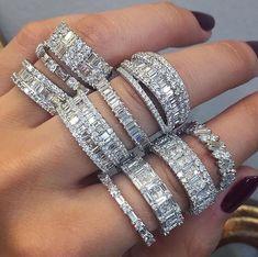 Forever classic moissanite ring set white gold SI-H diamond wedding band bridal promise ring oval moissanite engagement ring - Fine Jewelry Ideas Diamond Jewelry, Jewelry Rings, Jewelry Accessories, Fine Jewelry, Jewelry Ideas, Jewellery Box, Jewlery, Jewellery Earrings, Opal Jewelry