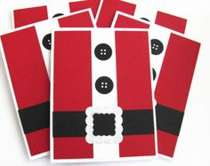 Christmas Gift Card Holders Santa Suit Cards by SassyScrapsCrafts