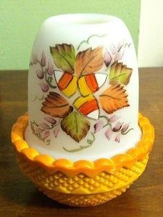 Mosser HALLOWEEN Fall Harvest Fairy Lamp Light Glimmer Light - Candy Corn Leaves #Mosser