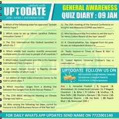 General Awareness Quiz General Awareness #Quizdiary : 09 Jan Vikram Sarabhai, General Conference, Unity