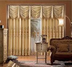 Curtains give a traditional look to the living room.