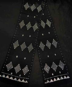Narrow Assuit Black Silver Belly Dance Hip Scarf Shawl Egypt by Besheer | eBay