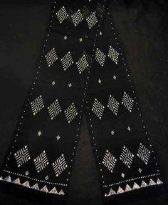 Narrow Assuit Black Silver Belly Dance Hip Scarf Shawl Egypt by Besheer | eBay