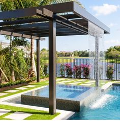 Get the perfect custom pergola shade for your delight. Find the pergola pool designs that suit the space you want to create! Backyard Pool Designs, Swimming Pools Backyard, Backyard Pergola, Swimming Pool Designs, Pergola Shade, Pergola Designs, Backyard Landscaping, Landscaping Ideas, Pergola Ideas