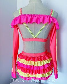 Dance Costumes Kids, Jazz Costumes, Inspire Dance, Dance Comp, Flower Dance, Neon Flowers, Flower Costume, Little Girl Toys, Dance It Out