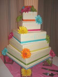 Sweet Elegance Cakes by Brittney: 5 Tier Wedding Cake