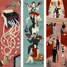 More fab illustrations by Livia Cives for the 2014 Buffetti calendar