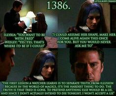 Illyria & Wesley from Angel