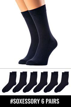3d985cdc947 6-pack Men s Blue Cotton Crew Socks  fashion  clothing  shoes  accessories