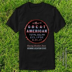 Total Solar Eclipse August 21 2017 Great American Eclipse Viewing Party T-Shirts, Invitations, Plus More Fun Custom Souvenirs | Check out the whole collection: https://www.zazzle.com/collections/great_american_solar_eclipse_august_2017_set-119735713303644105?rf=238713858877306074&TC=pin