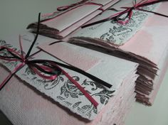 Custom Invitation made from ombre pink recycled by RusticandSimple