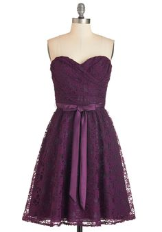 Dancing Upon Air Dress in Plum