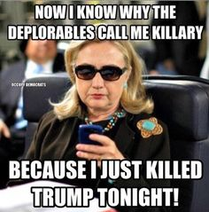 One meme referenced the controversy Hillary Clinton sparked when she said half of Trump's supporters were 'deplorables'