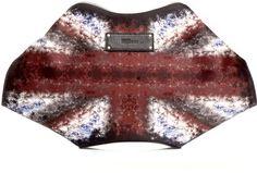 Alexander Mcqueen Union Jack Mantaray clutch on bagservant.co.uk