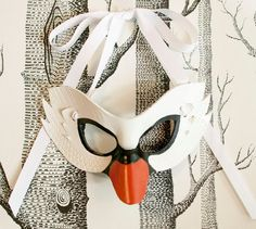 White Swan Leather Mask Adult Size  Made to by SundriesAndPlunder, $68.00