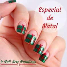 4 very easy christmas nail designs <3 love christmas nail art!